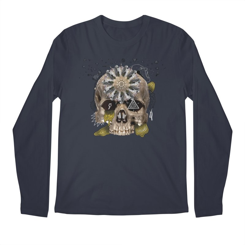 Skull Mandala Men's Regular Longsleeve T-Shirt by Emojo's Artist Shop