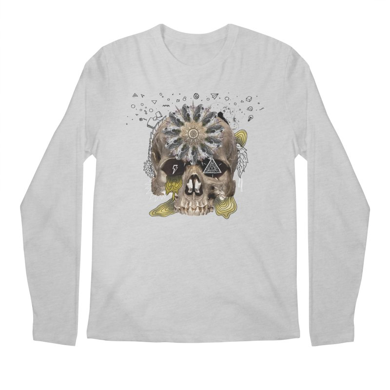 Skull Mandala Men's Regular Longsleeve T-Shirt by Emojo's Artist Shop