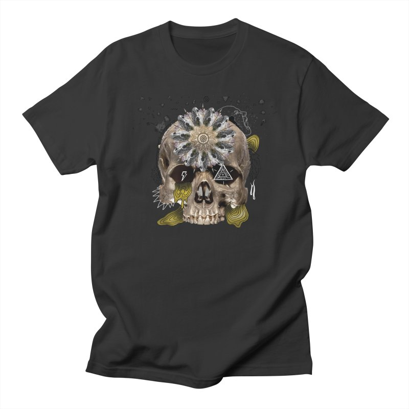 Skull Mandala Men's T-Shirt by Emojo's Artist Shop