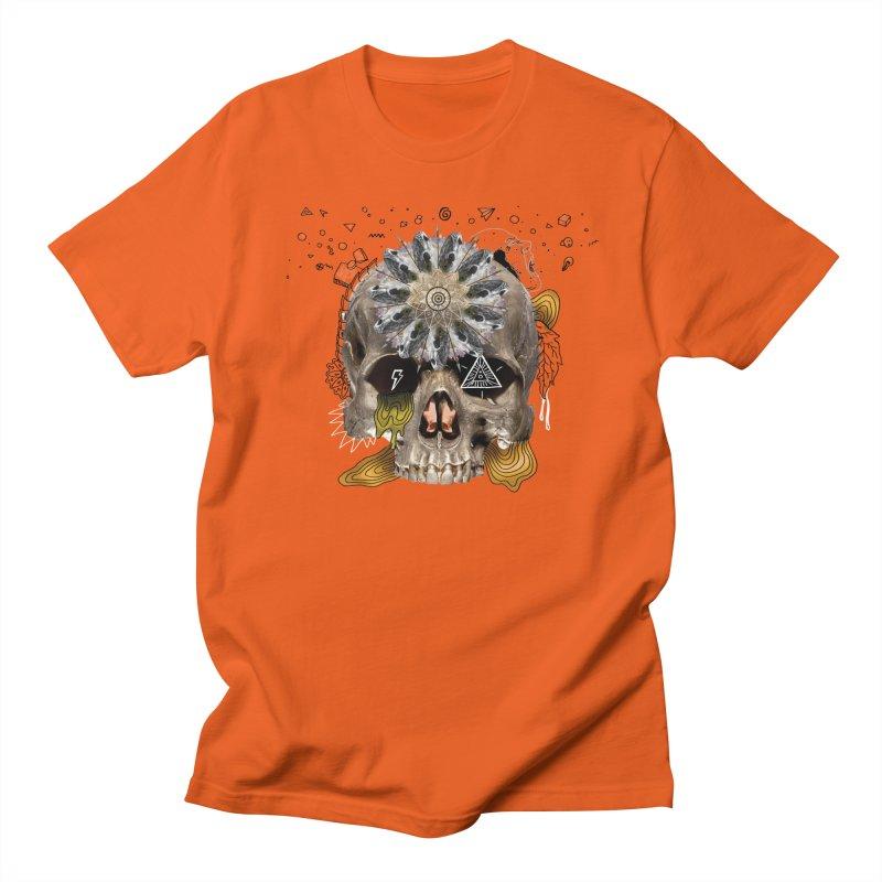 Skull Mandala Men's Regular T-Shirt by Emojo's Artist Shop