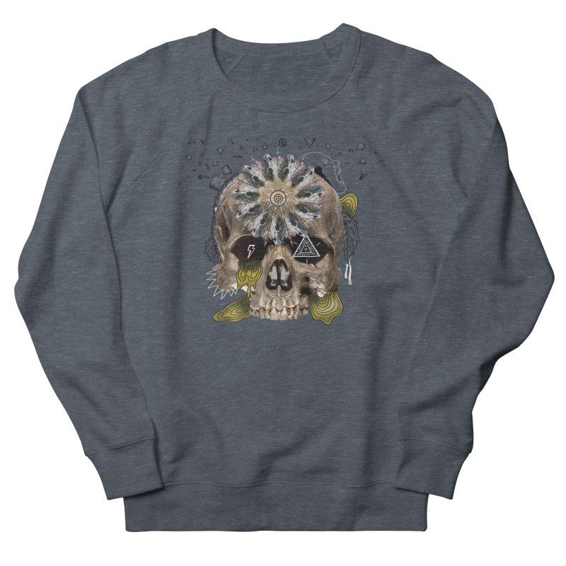 Skull Mandala Women's French Terry Sweatshirt by Emojo's Artist Shop