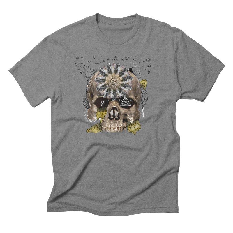 Skull Mandala Men's Triblend T-Shirt by Emojo's Artist Shop