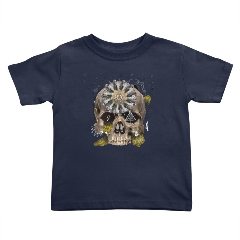 Skull Mandala Kids Toddler T-Shirt by Emojo's Artist Shop
