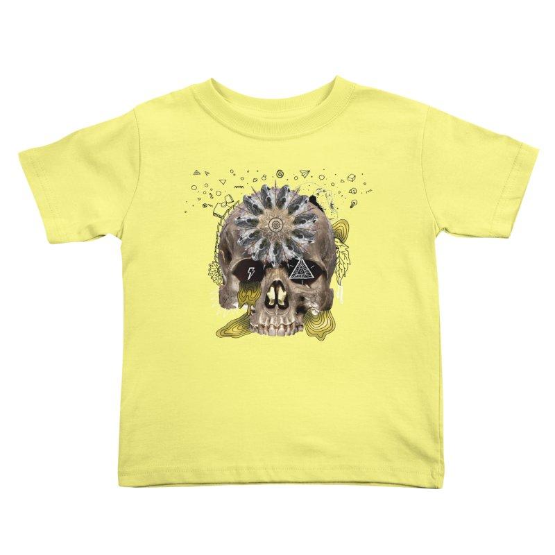 Skull Mandala Kids Toddler T-Shirt by Emojo's Artist Shop