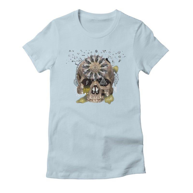 Skull Mandala Women's T-Shirt by Emojo's Artist Shop