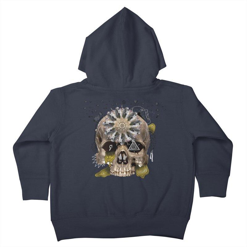 Skull Mandala Kids Toddler Zip-Up Hoody by Emojo's Artist Shop