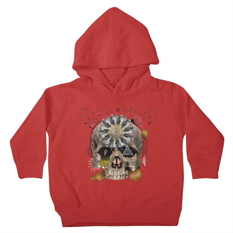 Skull Mandala Kids Toddler Pullover Hoody by Emojo's Artist Shop