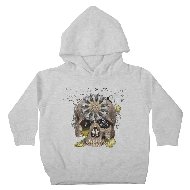 Skull Mandala Kids Toddler Pullover Hoody by Emojo's Artist Shop