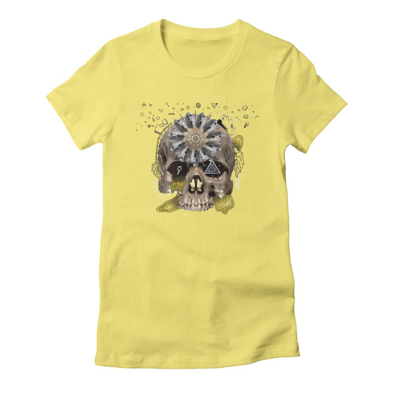 Skull Mandala Women's T-Shirt by Emojo's Artist Shop