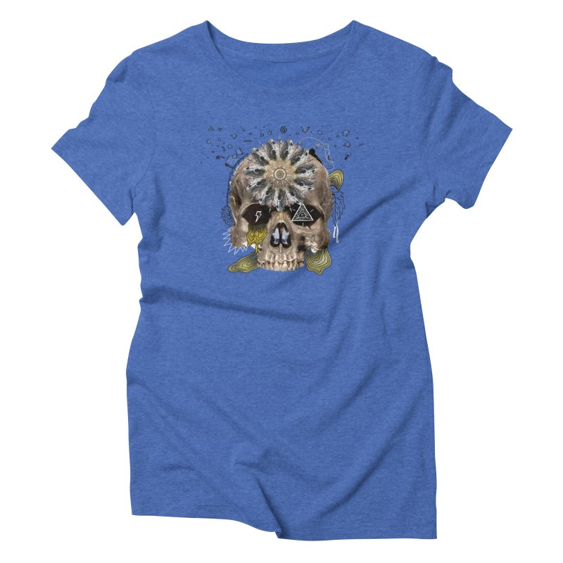 Skull Mandala Women's Triblend T-Shirt by Emojo's Artist Shop