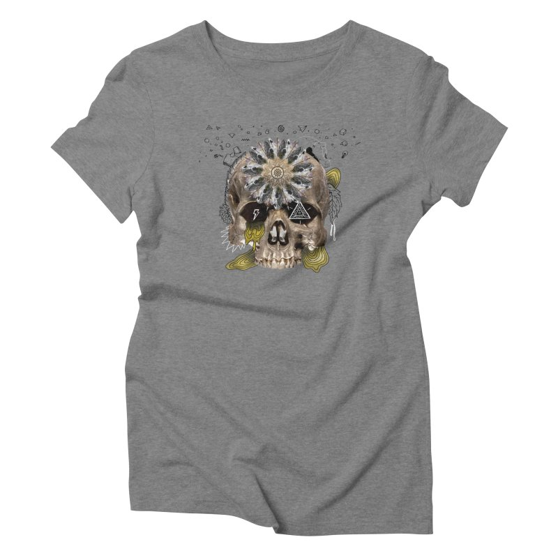 Skull Mandala Women's Triblend T-shirt by Emojo's Artist Shop