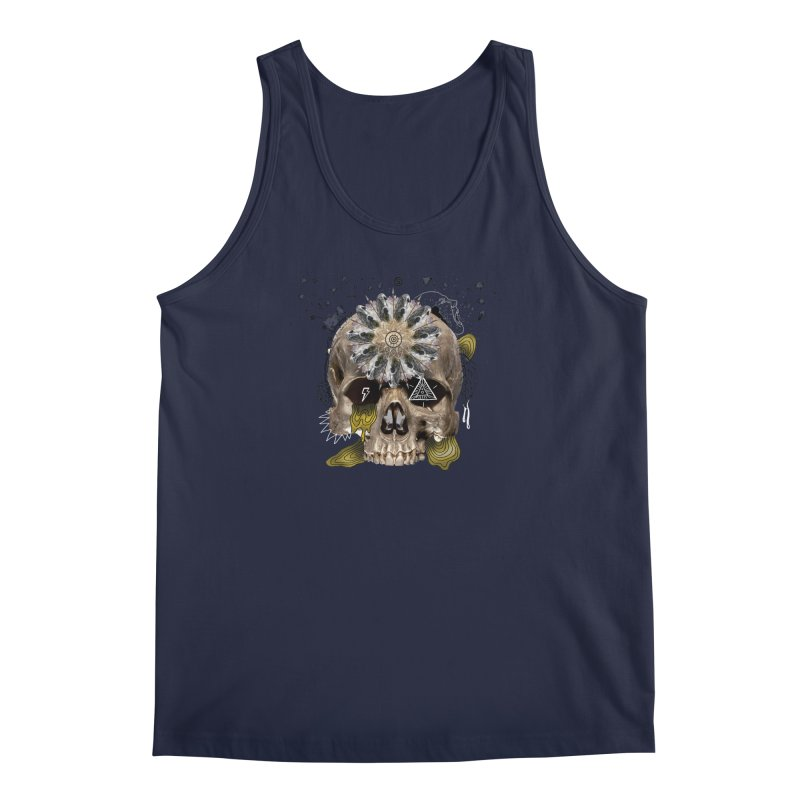 Skull Mandala Men's Regular Tank by Emojo's Artist Shop