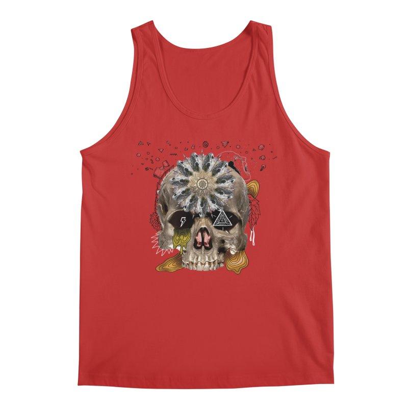 Skull Mandala Men's Regular Tank by Emojo's Artist Shop