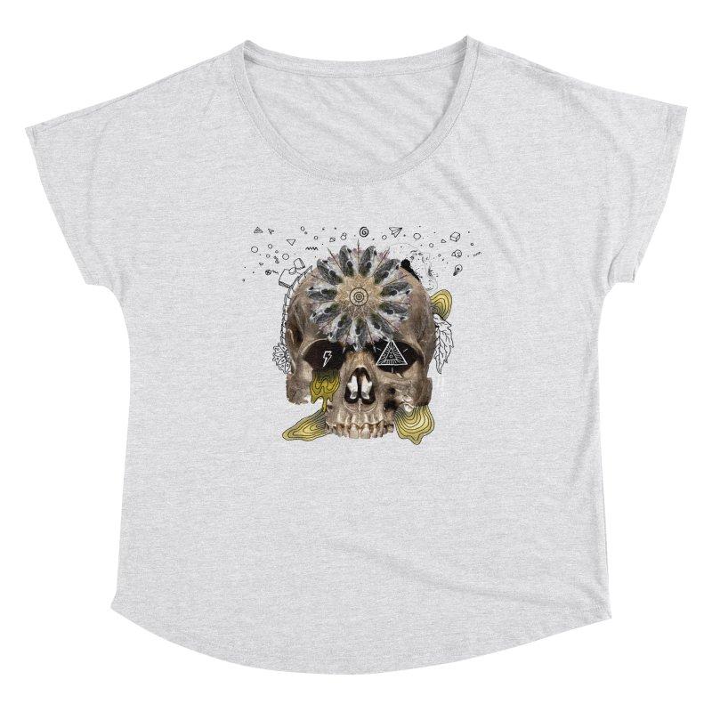 Skull Mandala Women's Scoop Neck by Emojo's Artist Shop