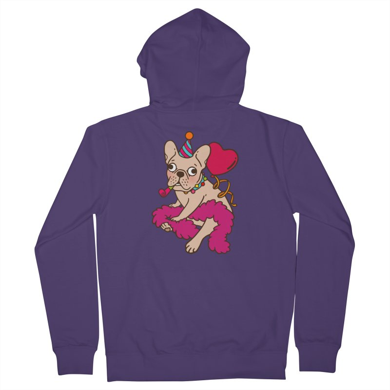 French Bulldog is a party animal  Women's French Terry Zip-Up Hoody by Emotional Frenchies - Cute French Bulldog T-shirts