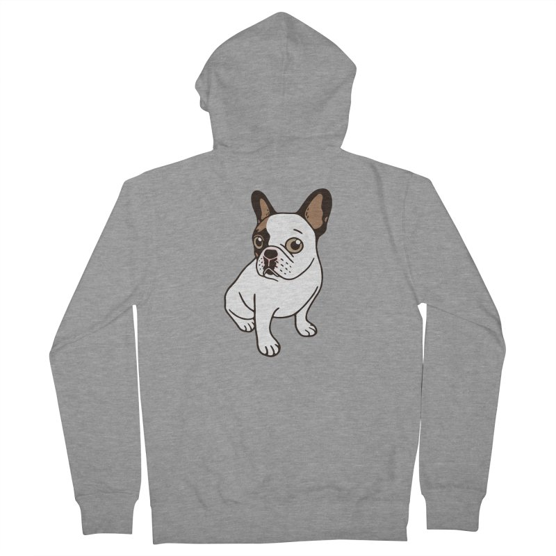 The Adorable Fawn Pied Frenchie  Women's French Terry Zip-Up Hoody by Emotional Frenchies - Cute French Bulldog T-shirts