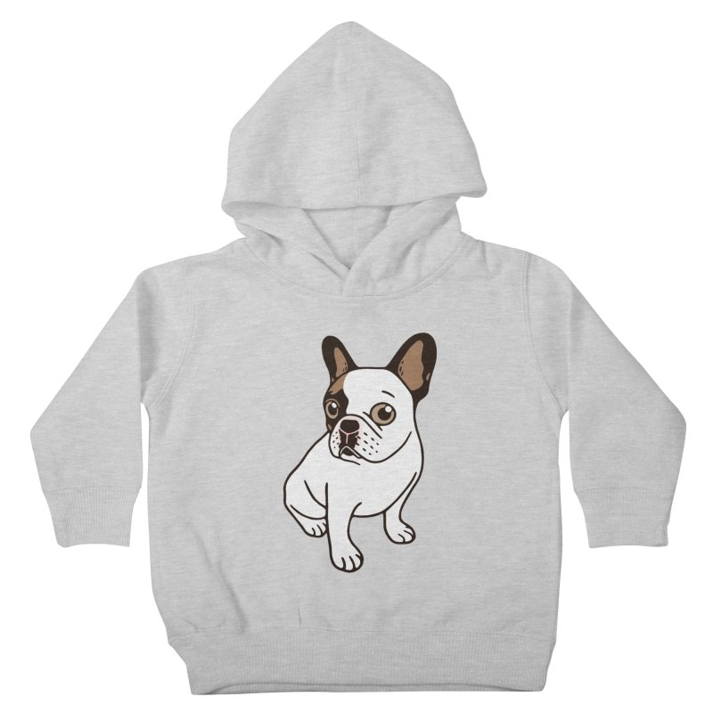 The Adorable Fawn Pied Frenchie  Kids Toddler Pullover Hoody by Emotional Frenchies - Cute French Bulldog T-shirts