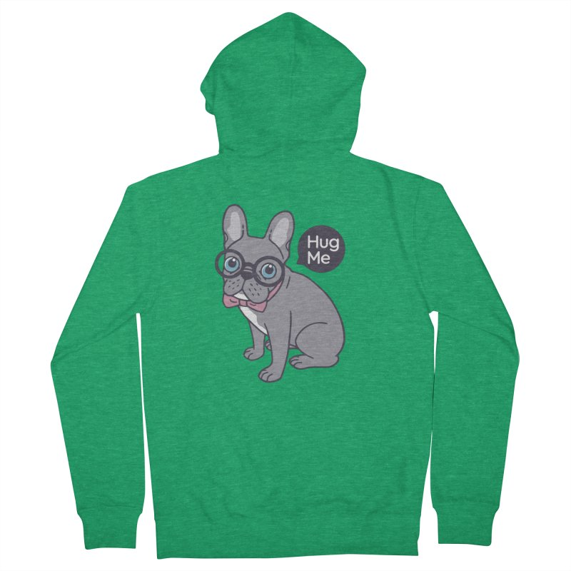 Hug me, cute Lilac Frenchie needs a hug  Women's French Terry Zip-Up Hoody by Emotional Frenchies - Cute French Bulldog T-shirts