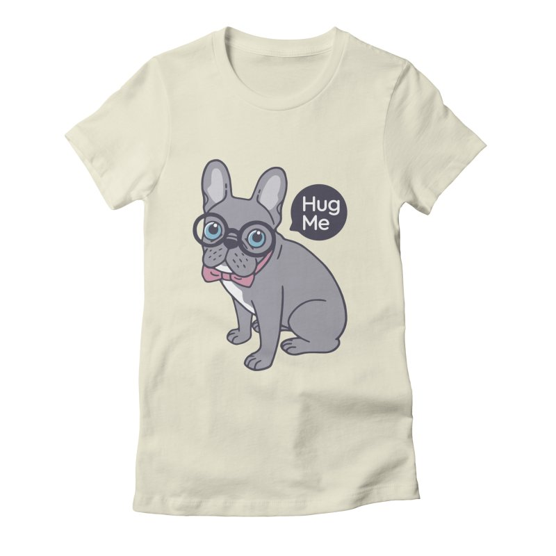 Hug me, cute Lilac Frenchie needs a hug  Women's Fitted T-Shirt by Emotional Frenchies - Cute French Bulldog T-shirts