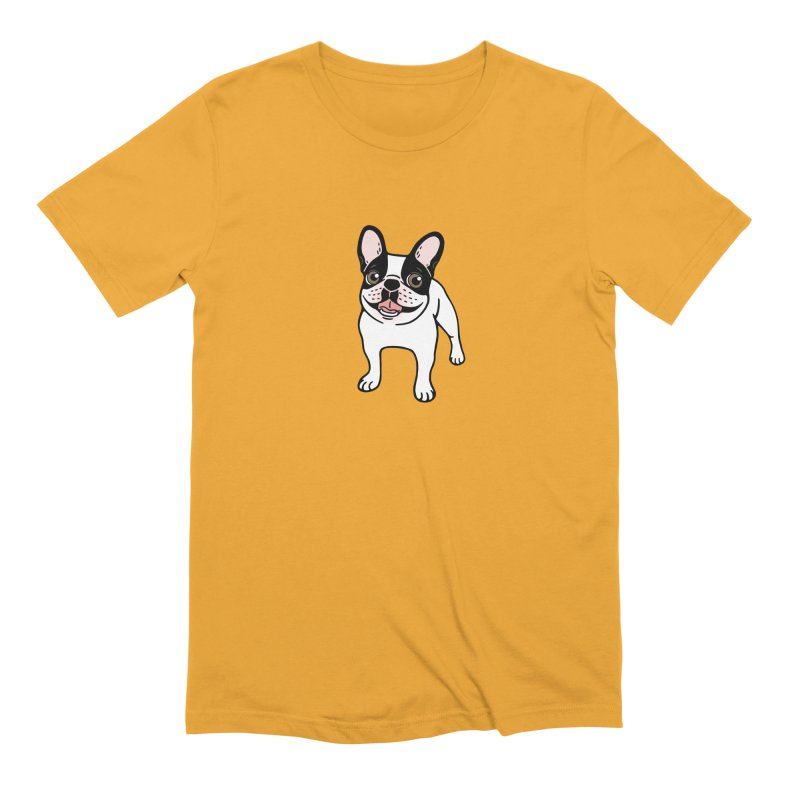 Happy Double Hooded Pied Frenchie  Men's Extra Soft T-Shirt by Emotional Frenchies - Cute French Bulldog T-shirts
