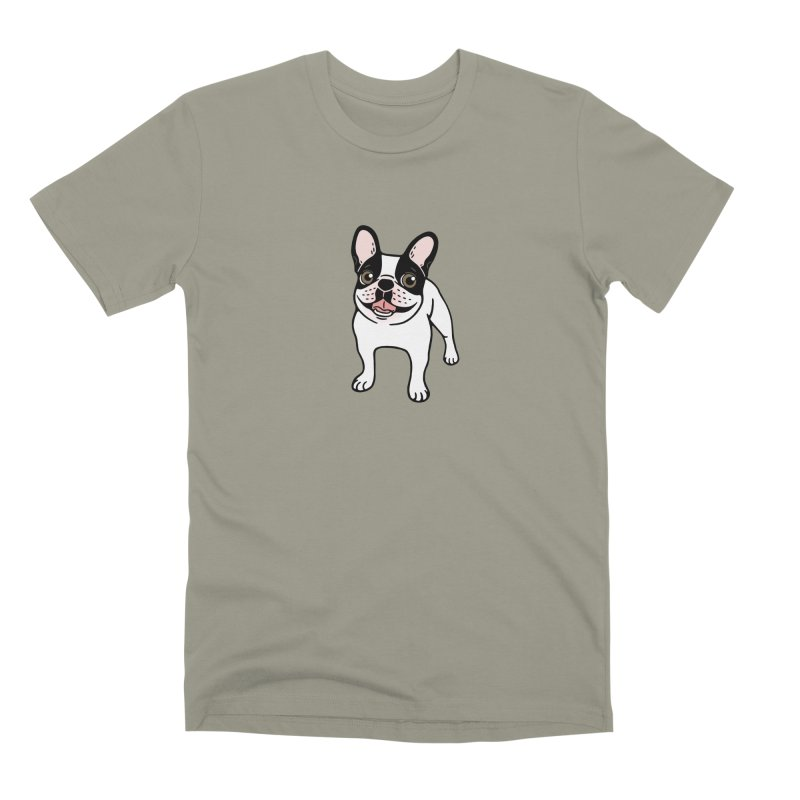 Happy Double Hooded Pied Frenchie  Men's Premium T-Shirt by Emotional Frenchies - Cute French Bulldog T-shirts