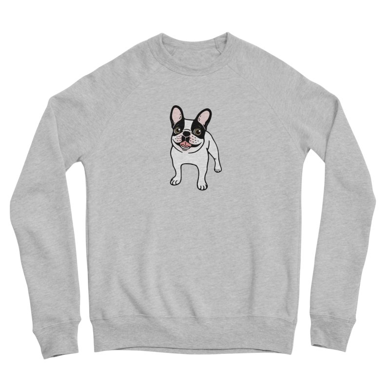 Happy Double Hooded Pied Frenchie  Women's Sponge Fleece Sweatshirt by Emotional Frenchies - Cute French Bulldog T-shirts
