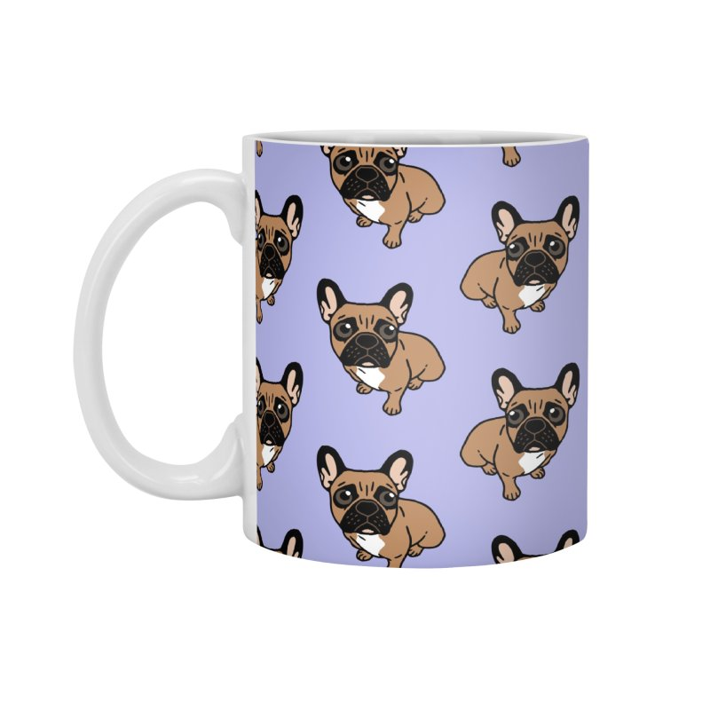 Be nice to the cute black mask fawn Frenchie  Accessories Mug by Emotional Frenchies - Cute French Bulldog T-shirts