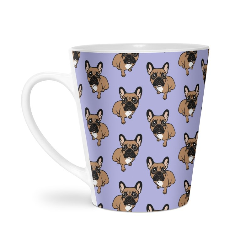 Be nice to the cute black mask fawn Frenchie  Accessories Latte Mug by Emotional Frenchies - Cute French Bulldog T-shirts