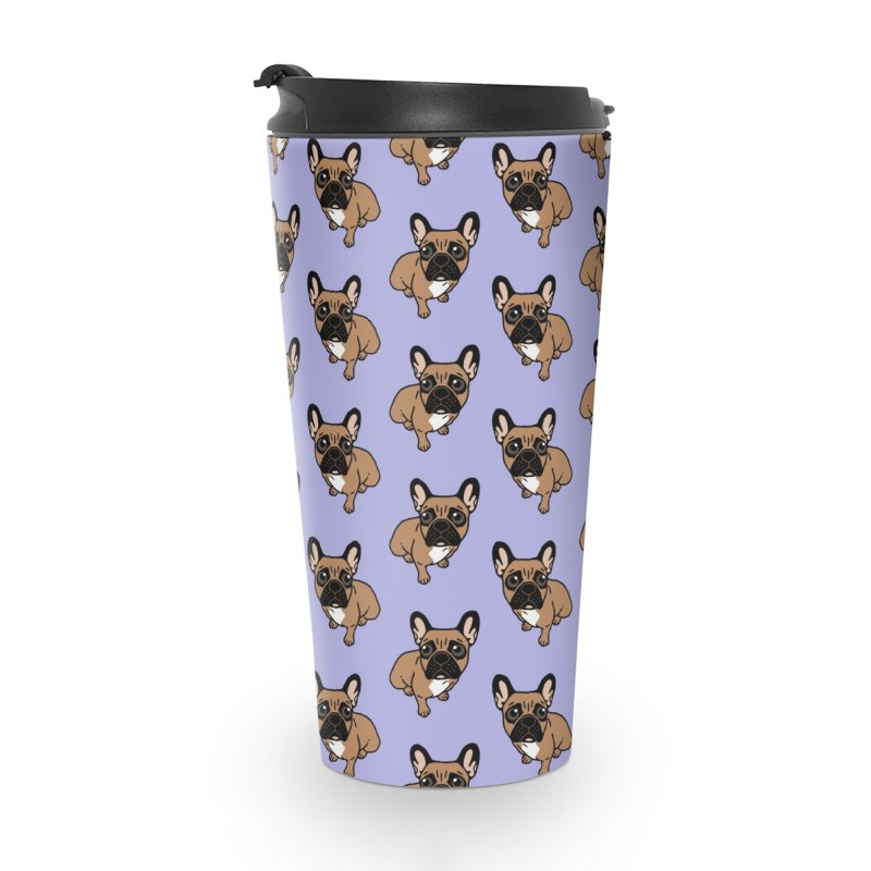 Be nice to the cute black mask fawn Frenchie  Accessories Travel Mug by Emotional Frenchies - Cute French Bulldog T-shirts