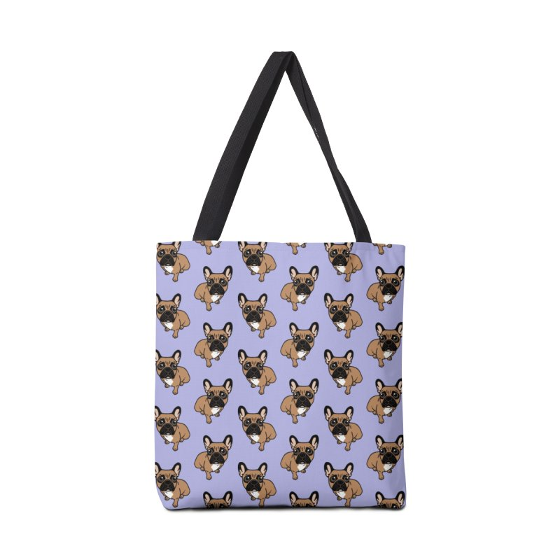 Be nice to the cute black mask fawn Frenchie  Accessories Tote Bag Bag by Emotional Frenchies - Cute French Bulldog T-shirts