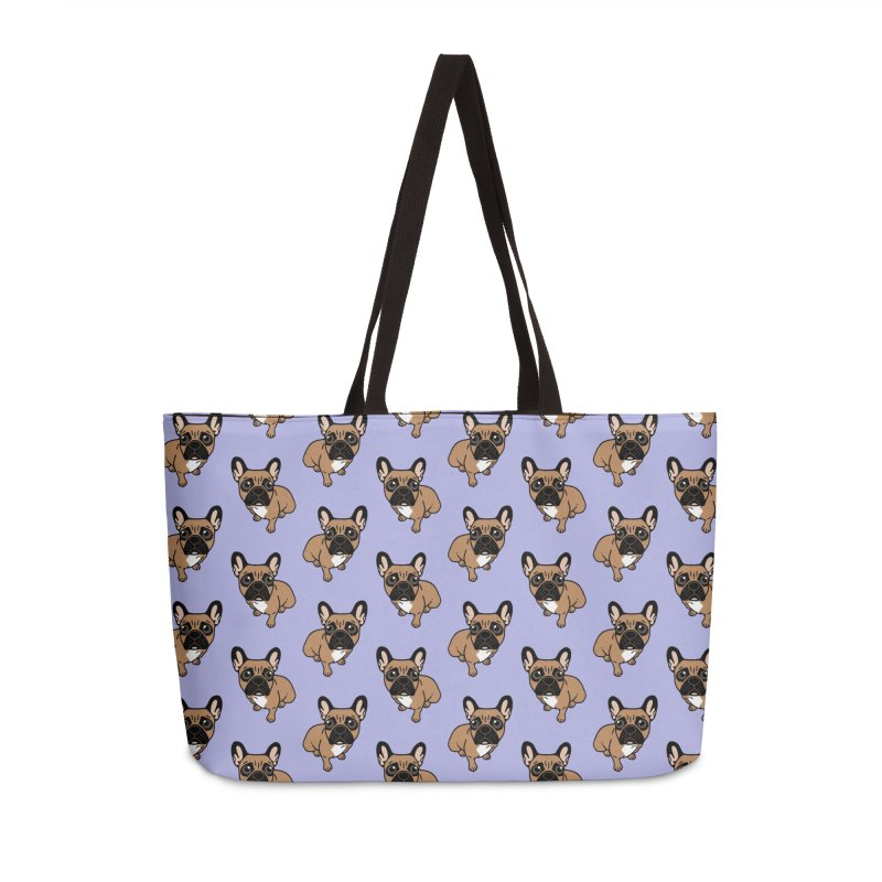 Be nice to the cute black mask fawn Frenchie  Accessories Weekender Bag Bag by Emotional Frenchies - Cute French Bulldog T-shirts