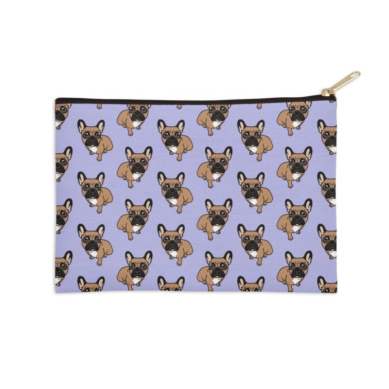 Be nice to the cute black mask fawn Frenchie  Accessories Zip Pouch by Emotional Frenchies - Cute French Bulldog T-shirts