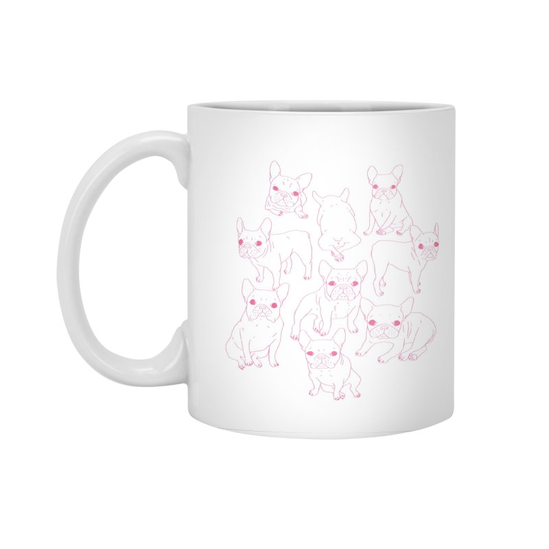 Hand Drawn Cute Frenchies Collage  Accessories Standard Mug by Emotional Frenchies - Cute French Bulldog T-shirts