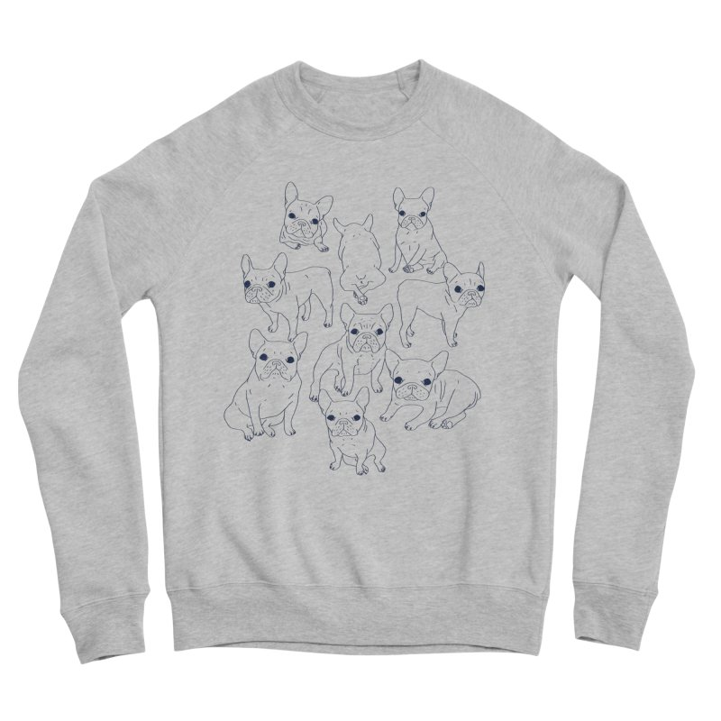 Hand Drawn Cute Frenchies Collage  Men's Sweatshirt by Emotional Frenchies - Cute French Bulldog T-shirts