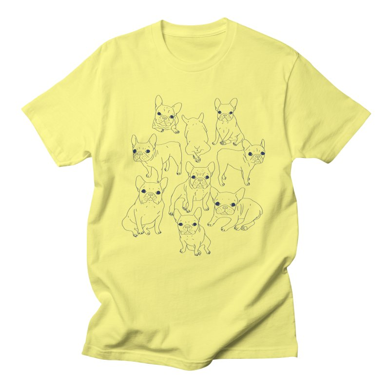 Hand Drawn Cute Frenchies Collage  Men's T-Shirt by Emotional Frenchies - Cute French Bulldog T-shirts