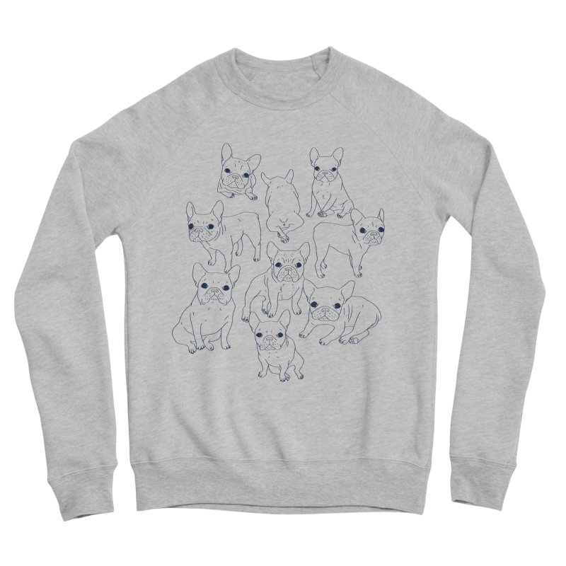 Hand Drawn Cute Frenchies Collage  Women's Sponge Fleece Sweatshirt by Emotional Frenchies - Cute French Bulldog T-shirts