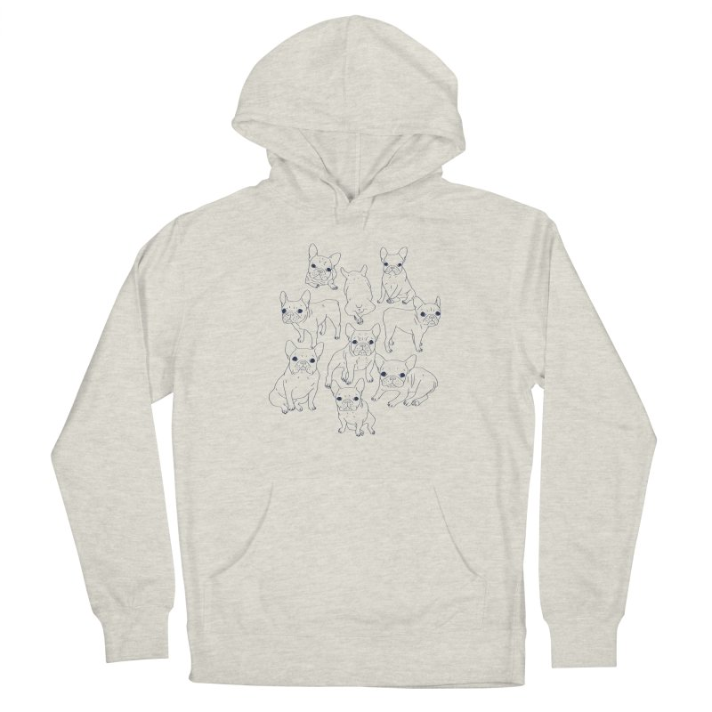 Hand Drawn Cute Frenchies Collage  Men's Pullover Hoody by Emotional Frenchies - Cute French Bulldog T-shirts