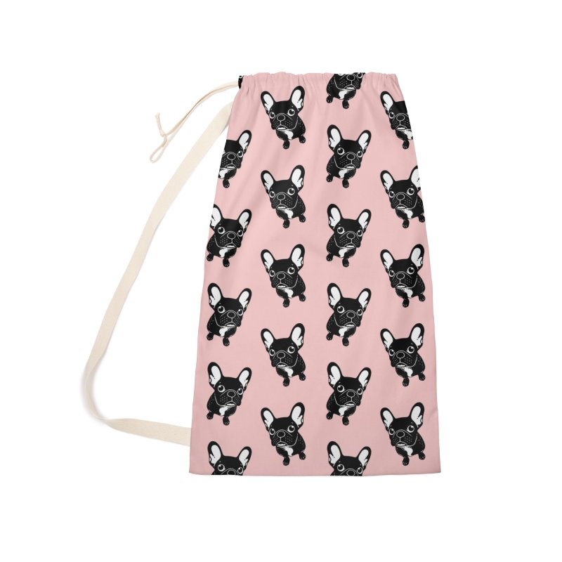 Cute brindle Frenchie is a dreamer  Accessories Laundry Bag Bag by Emotional Frenchies - Cute French Bulldog T-shirts