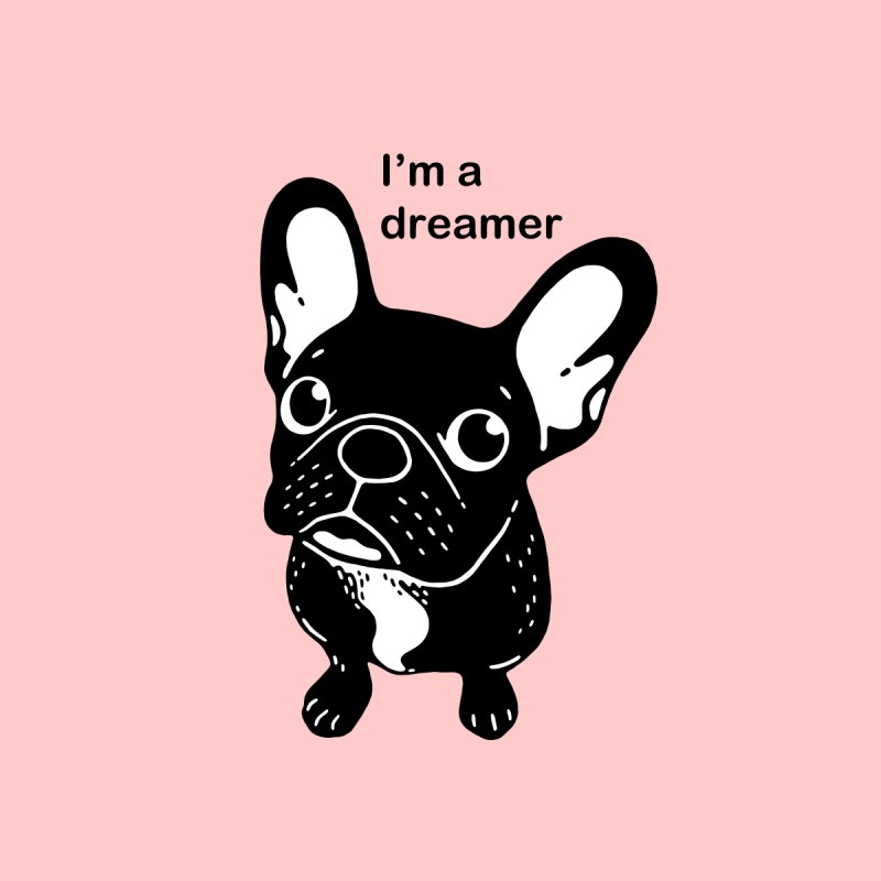 Cute brindle Frenchie is a dreamer  by Emotional Frenchies - Cute French Bulldog T-shirts