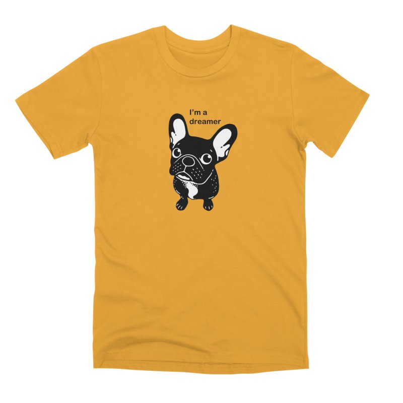 Cute brindle Frenchie is a dreamer  Men's Premium T-Shirt by Emotional Frenchies - Cute French Bulldog T-shirts