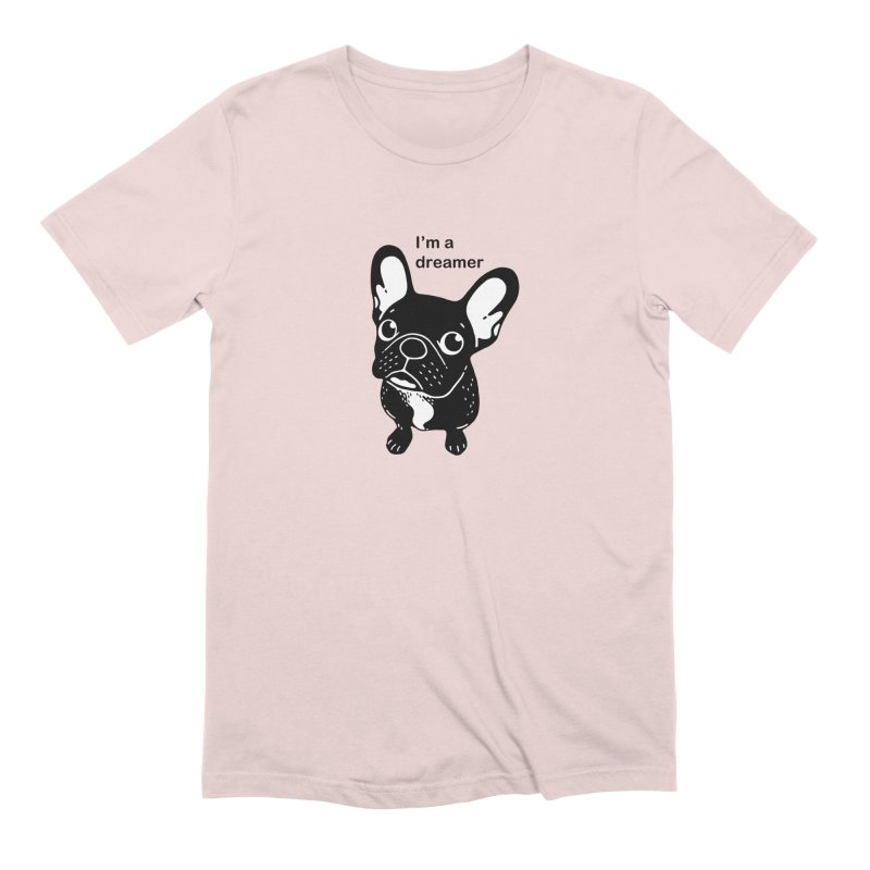 Cute brindle Frenchie is a dreamer  Men's Extra Soft T-Shirt by Emotional Frenchies - Cute French Bulldog T-shirts