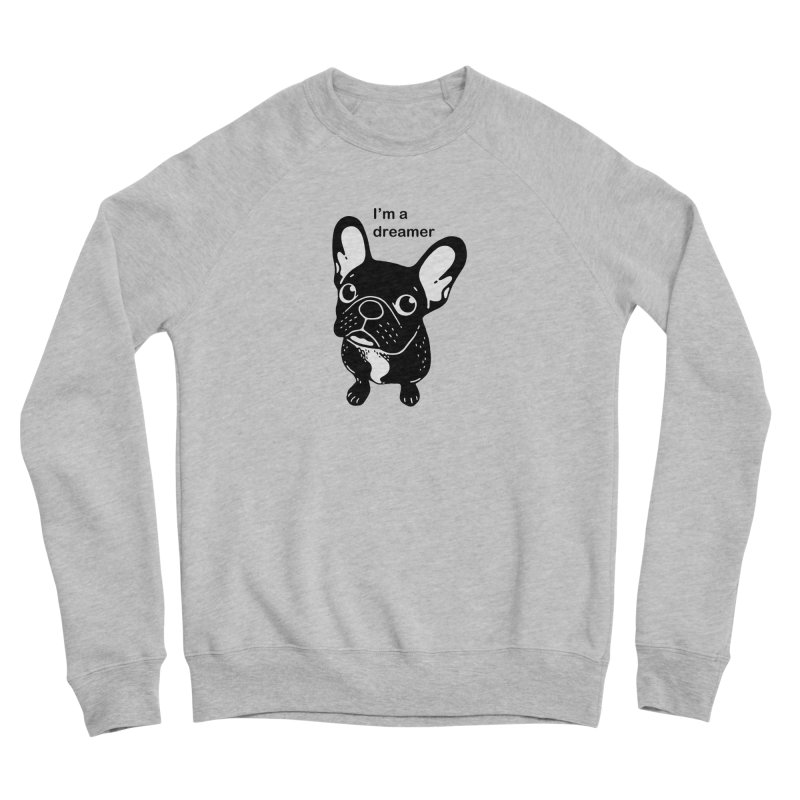 Cute brindle Frenchie is a dreamer  Men's Sponge Fleece Sweatshirt by Emotional Frenchies - Cute French Bulldog T-shirts