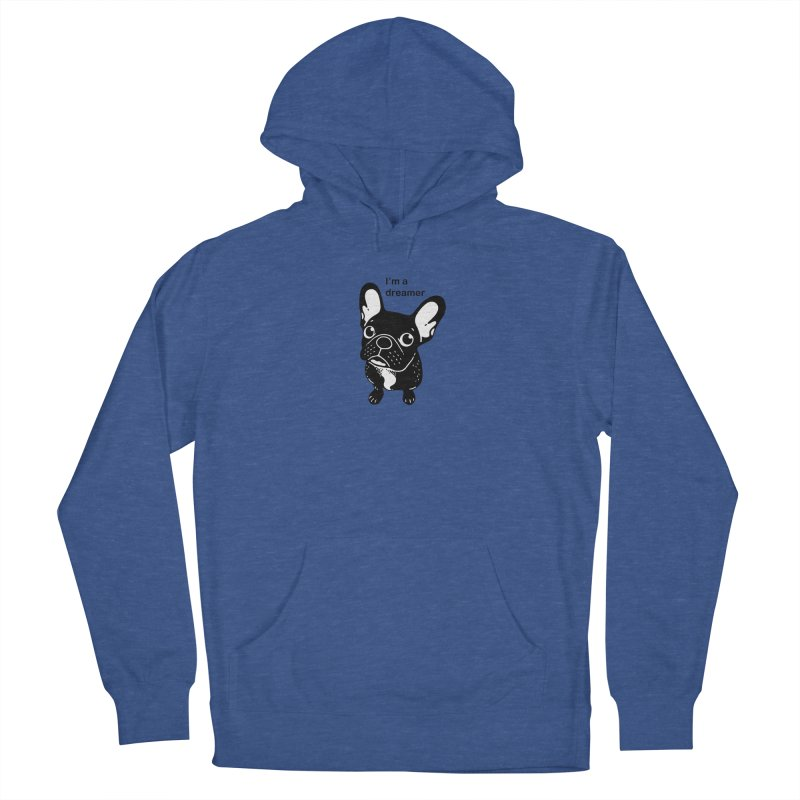 Cute brindle Frenchie is a dreamer  Men's Pullover Hoody by Emotional Frenchies - Cute French Bulldog T-shirts