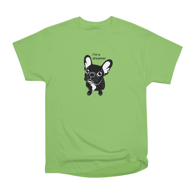 Cute brindle Frenchie is a dreamer  Men's Heavyweight T-Shirt by Emotional Frenchies - Cute French Bulldog T-shirts