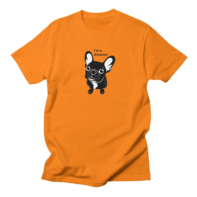 Cute brindle Frenchie is a dreamer  Men's Regular T-Shirt by Emotional Frenchies - Cute French Bulldog T-shirts
