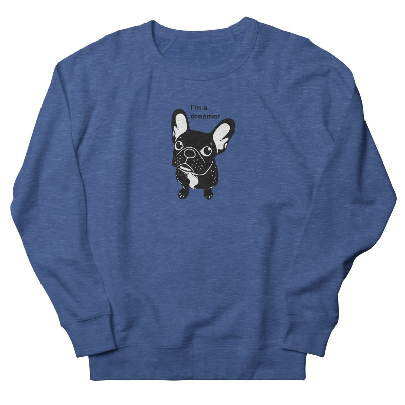 Cute brindle Frenchie is a dreamer  Men's Sweatshirt by Emotional Frenchies - Cute French Bulldog T-shirts