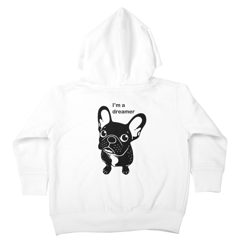 Cute brindle Frenchie is a dreamer  Kids Toddler Zip-Up Hoody by Emotional Frenchies - Cute French Bulldog T-shirts