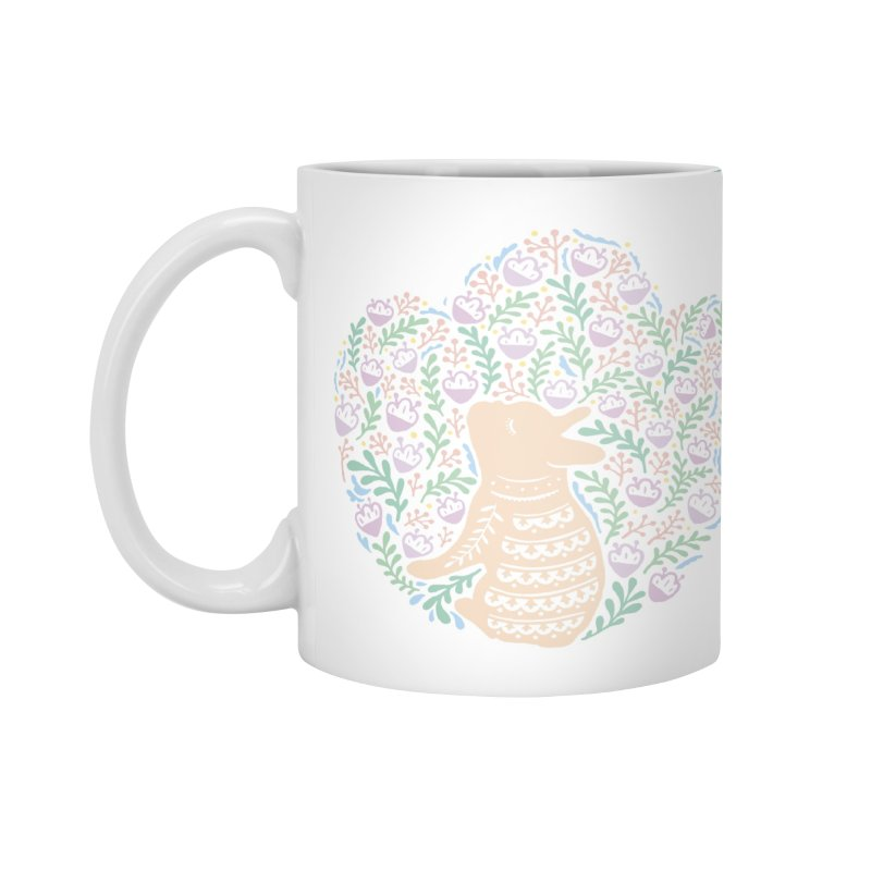 Cream Frenchie and the Spring foliage Accessories Mug by Emotional Frenchies - Cute French Bulldog T-shirts