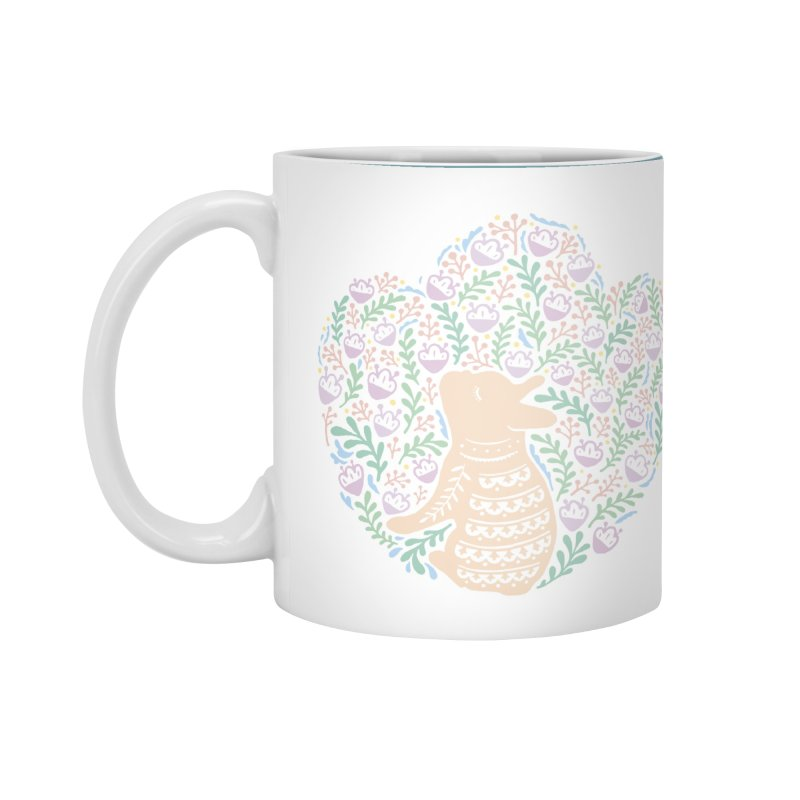 Cream Frenchie and the Spring foliage Accessories Standard Mug by Emotional Frenchies - Cute French Bulldog T-shirts