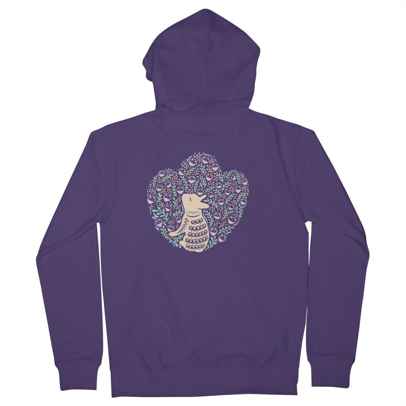 Cream Frenchie and the Spring foliage Women's French Terry Zip-Up Hoody by Emotional Frenchies - Cute French Bulldog T-shirts